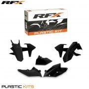 Plastics Kit - KTM EXC 250/300 & EXC-F 250-500 2017-On With Airbox Cover - Black