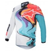 2021 Adults Racer Flagship Jersey - White/ Multi