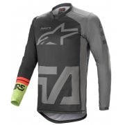 2021 Adults Racer Compass Jersey - Black/ Grey/ Green