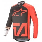 2021 Adults Racer Compass Jersey - Anthracite/ Red/ White