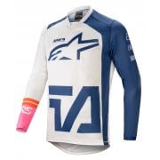 2021 Adults Racer Compass Jersey - White/ Navy/ Pink