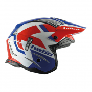Adults Zone 4 Balance Trials Helmet - Blue/ Red/ White