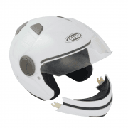 Adults G-246 Helmet With Removable Chin Bar - Gloss White