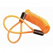Motorcycle Disc Lock Reminder Cable - Orange