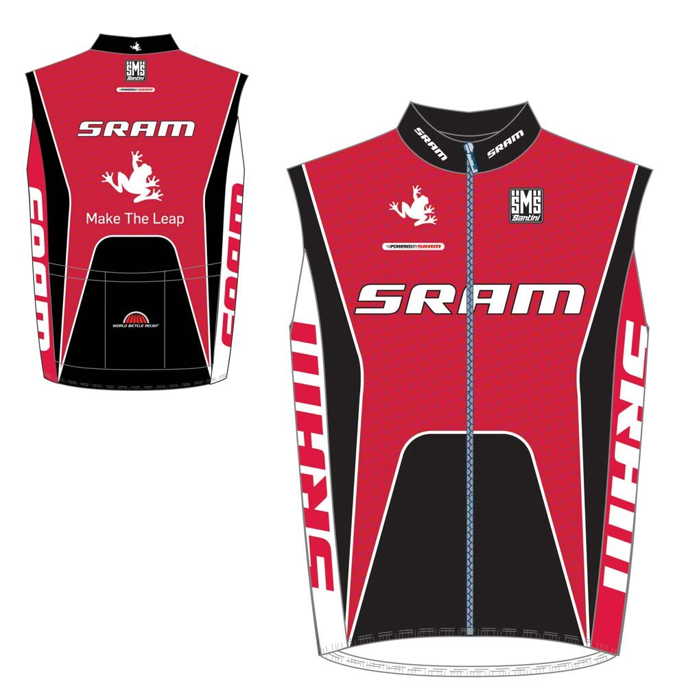 Santini-Replica-Road-Cycling-Team-Sram-Tech-Full-Protection-Gilet