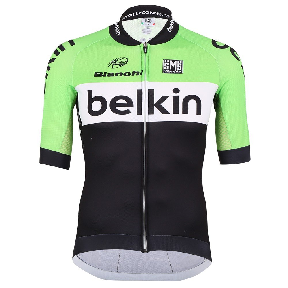Santini-Replica-Team-Original-Belkin-Aero-Short-Sleeve-Cycle-Cycling-Bike-Jersey