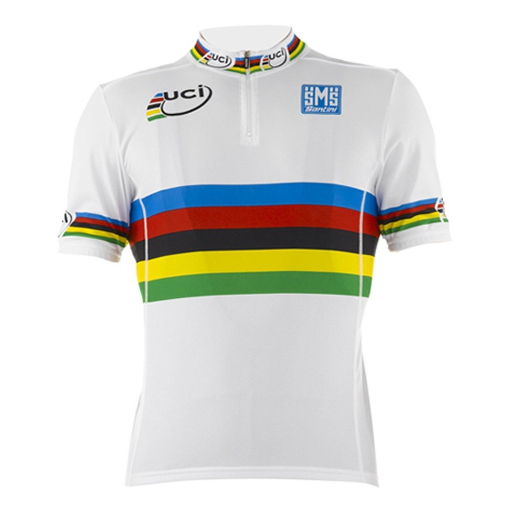 Santini-Replica-UCI-World-Road-Champion-S-S-Cycle-Cycling-Rainbow-Jersey