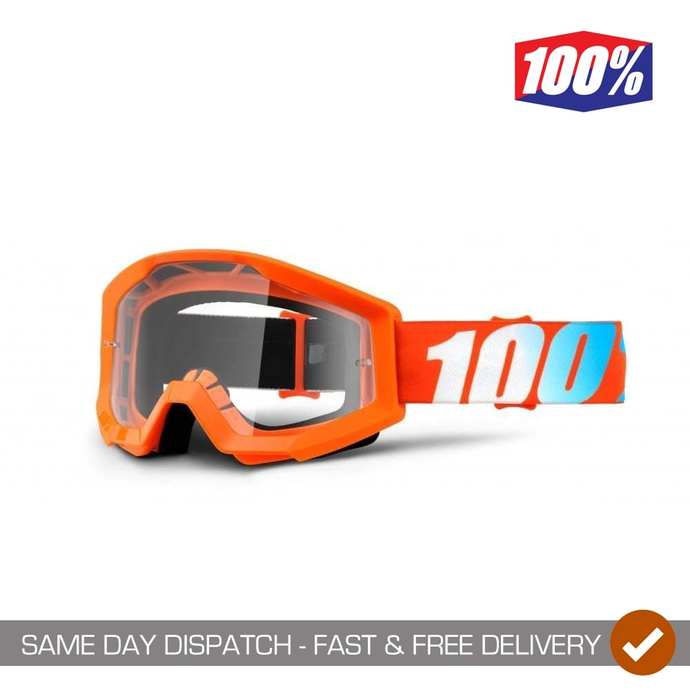 Furnace w/Mirror Red Lens 100% MX Motocross STRATA Goggles ...