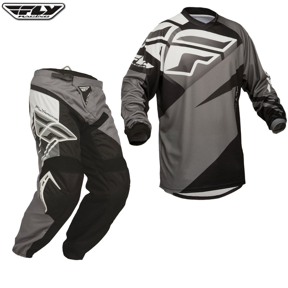 Black//White//Grey Fly Racing 2019 F-16 Jersey Small